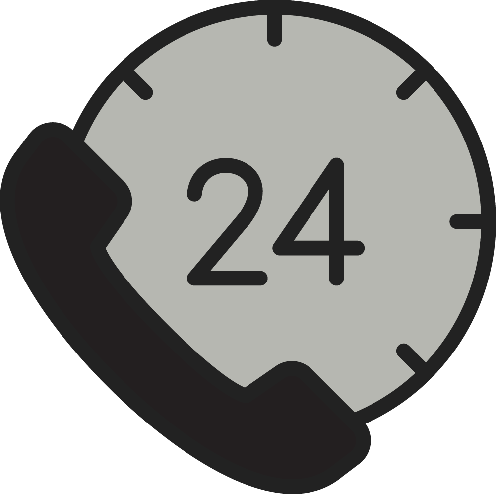 Clock and phone icon